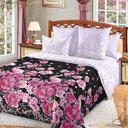 Комплект постельного белья Восточный ветер черный из сатина