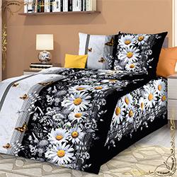 Комплект постельного белья Ярославна 1 черный из бязи
