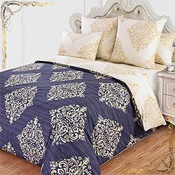 Комплект постельного белья перкаль Византия 1 синий
