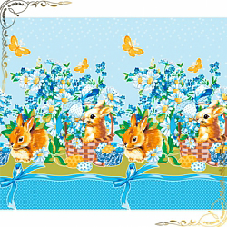 Полотенце вафельное Кролик пасхальный 1 гол, 50Х70