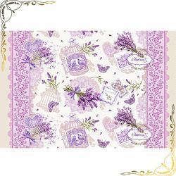 Вафельное полотенце Лаванда 100Х150