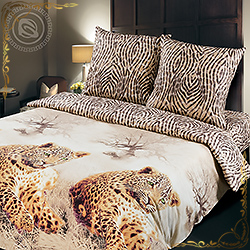 Постельное белье поплин Леопард