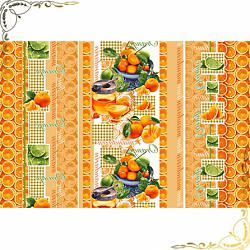 Вафельное полотенце Мандаринки 100Х150