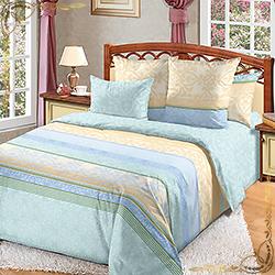 Комплект постельного белья Мелодия 1 голубой из перкаля
