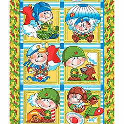 Вафельное полотенце Армейские истории 50х70 зеленое