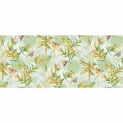 Вафельное полотенце Дары весны 47х70 зеленое