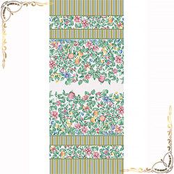 Полотенце Эмилия 100Х150 зеленое из вафельного полотна