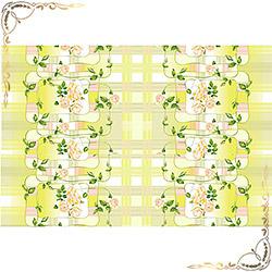 Полотенце вафельное Нежная роза 100Х150 желтое
