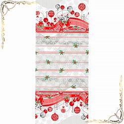 Полотенце вафельное Новогодняя ночь 100Х150 серое
