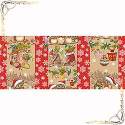 Полотенце вафельное Новогодняя семейка 1 100Х150 красное