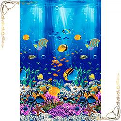 Полотенце вафельное Подводный мир 1 47Х70 синий