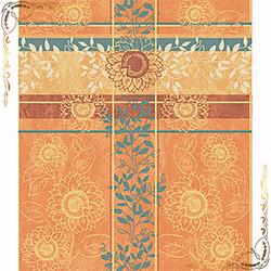 Полотенце вафельное Полдень 100Х150 оранжевое