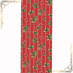 Полотенце вафельное Рождественский букет 47Х70 бордовое