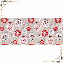 Полотенце Рождество 1 100Х150 серое из вафельного полотна