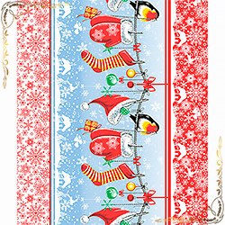 Полотенце вафельное Рукавички 50Х70 красное