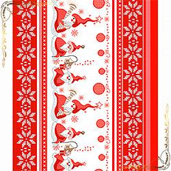 Полотенце вафельное Санта 50Х70 красное