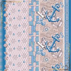 Полотенце вафельное Семь морей 47Х70 голубое