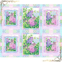 Полотенце вафельное Сирень 47Х60 фиолетовое