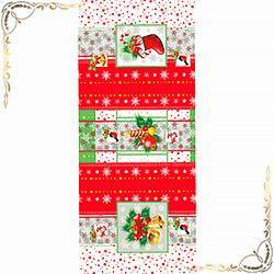 Полотенце Сочельник 47Х60 красное из вафельного полотна