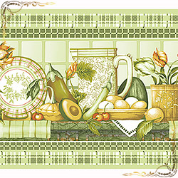 Полотенце вафельное Усадьба 50Х70 зеленое