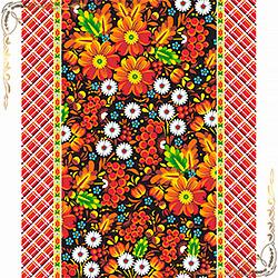 Полотенце Забава 50Х70 оранжевое из вафельного полотна