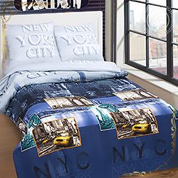 Постельное белье поплин Нью йорк