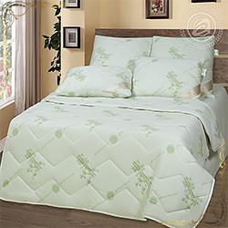 Одеяло Бамбук антистресс пл.150гр/м зеленое из трикотажного полотна