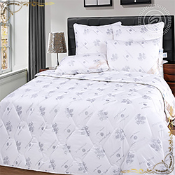 Одеяло Бамбук пл.300гр/м белое из тика пухоперового