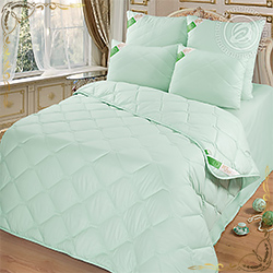 Одеяло Бамбук пл.300гр/м фисташковое из микрофибры
