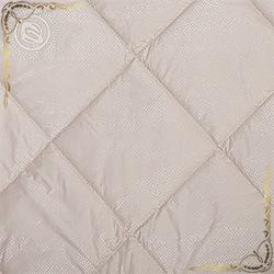 Одеяло тик пухоперовой Camel пл.200гр/м кремовое. Вид вблизи 1.