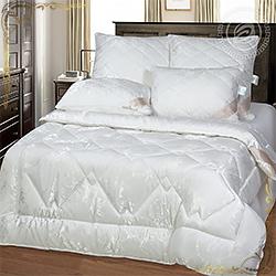 Одеяло Эвкалипт пл.300гр/м белое из смесовой ткани жаккардового переплетения