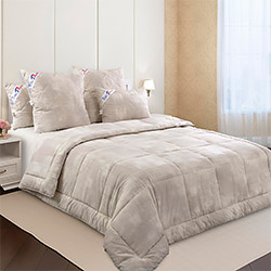 Одеяло перкаль Импульс компаньон бамбук-хлопок 300гр одноиголка бежевое