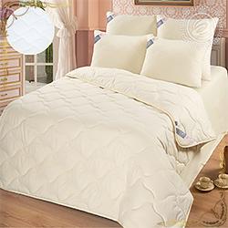 Одеяло Меринос пл.200гр/м. Материал микрофибра. Цвет белый.