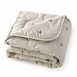 Одеяло верблюжья шерсть тик смесовый 300гр одноиголка бежевое