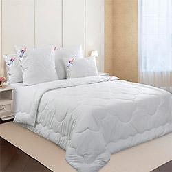 Одеяло перкаль Шантильи компаньон 4 лебяжий пух 300гр одноиголка бирюзовое