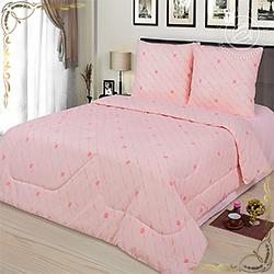 Одеяло бязь Шерсть овечья пл.200гр/м розовое