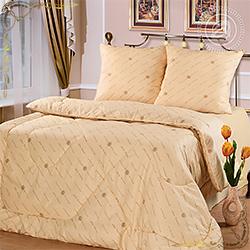 Одеяло Шерсть овечья пл.300гр/м персиковое из бязи