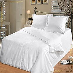 Одеяло сатин набивной Silk Premium пл.1600гр/м белое