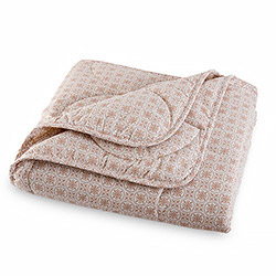 Одеяло перкаль Япон компаньон 3 Лен-хлопок 150гр коричневое