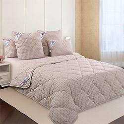 Одеяло перкаль Японский компаньон лен-хлопок 150гр одноиголка коричневое