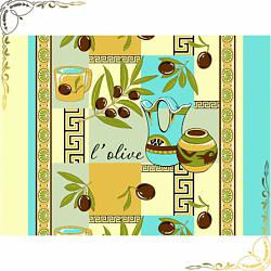 Полотенце вафельное Оливки 50Х70