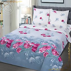 Комплект постельного белья Отражение из поплина