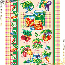 Вафельное полотенце Овощи 50Х70
