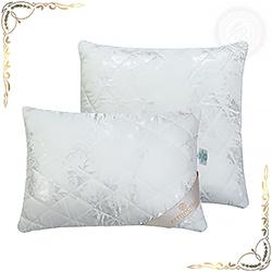 Подушка смесовая ткань жаккардового переплетения Эвкалипт белая