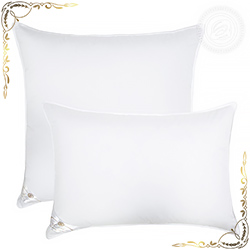 Подушка Ника белая из сатина