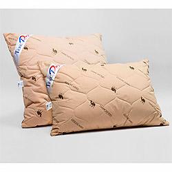Подушка тик Верблюжья шерсть коричневая