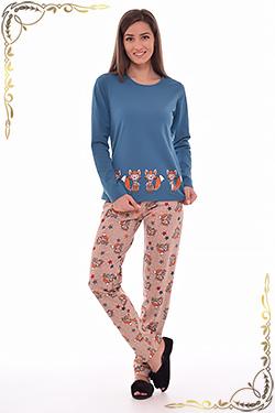 Пижама с брюками из хлопка 1-110