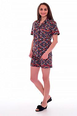 Пижама с шортами на пуговицах 1-178