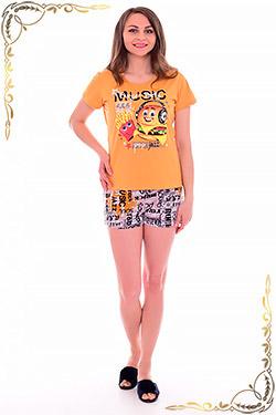 Пижама с шортами пестрой расцветки 1-183