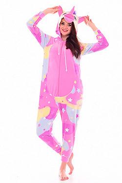 Пижама женская кигуруми единорог 1-186